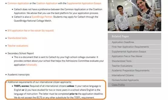 例如Cal Tech对于IELTS成绩不接受,需要学生在申请时提交TOEFL成绩,大家申请前注意提前查询并核对学校的申请要求。.webp.jpg
