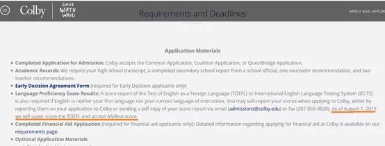 目前可接受TOEFL Best Score的学校,目前非常少,例如:Colby College.webp.jpg